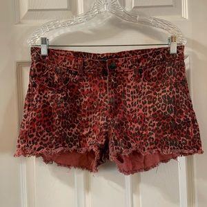 Rock & Republic Lolita Red Cheetah/Leopard Shorts